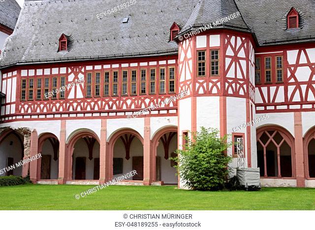 Cloister of the Cistercian monastery Kiedrich, Rheingau, Hesse, Germany