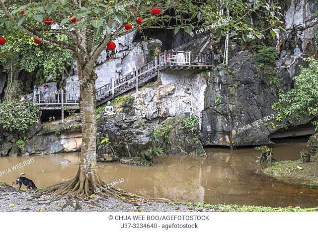 A Buddha shrine ( Bao Ling Shan) in a cave in Bau, Sarawak, Malaysia