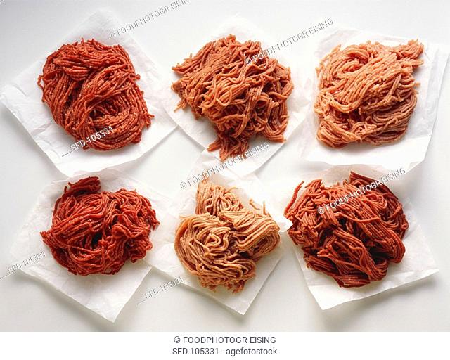 Various types of mince