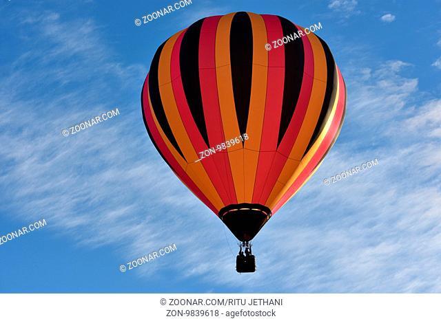 Balloon launch at dawn at the 2016 Adirondack Hot Air Balloon Festival held from Sep 22-25 (USA)