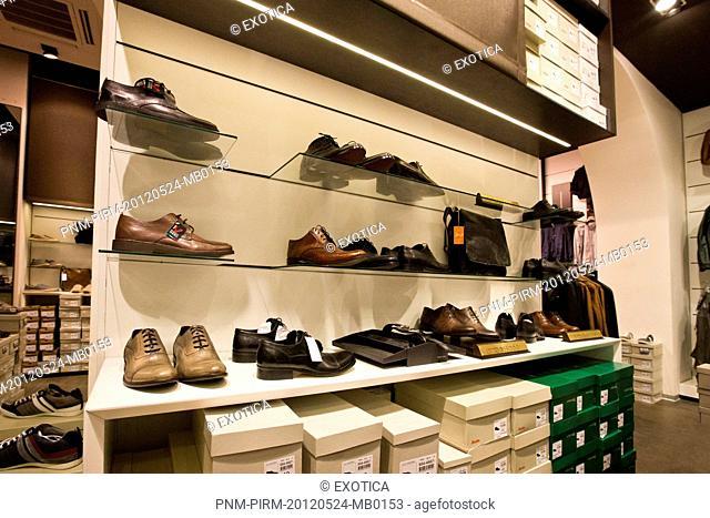 Shoes in a store, Burano, Venetian Lagoon, Venice, Veneto, Italy