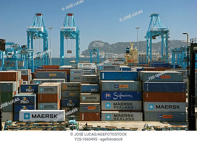 The container port, Algeciras, Cadiz-province, Spain