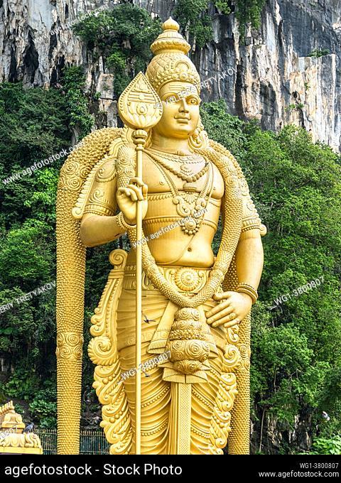 Kuala Lumpur, Malaysia The Lord Murugan statue at the entrance of Batu Caves near Kuala Lumpur, Malaysia
