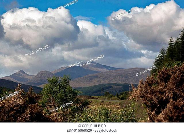 View from Loch Laggan towards Ben Nevis
