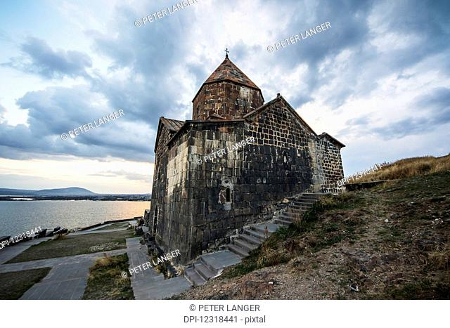 Surp Arakelots (Holy Apostles Church) and Surp Astvatsatsin (Holy Mother of God Church) of the Sevanavank (Sevank Monastery) overlooking Lake Sevan