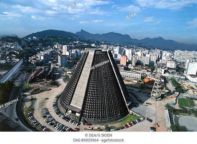 Aerial view of Cathedral of Rio de Janeiro - State of Rio de Janeiro, Brazil