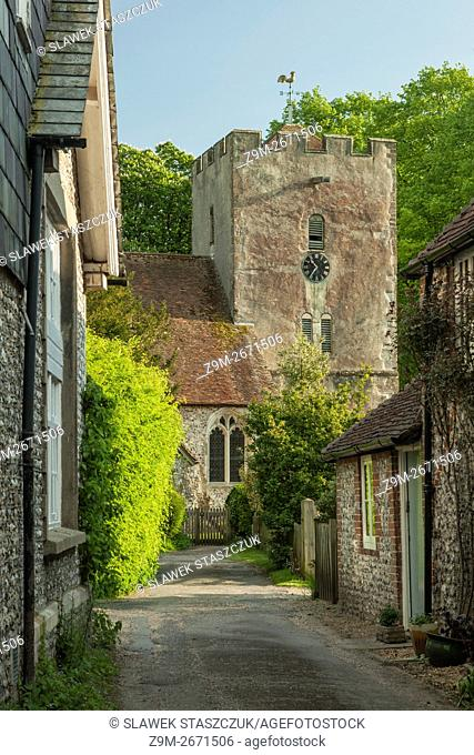 St Mary's church in Singleton, West Sussex, England. South Downs National Park