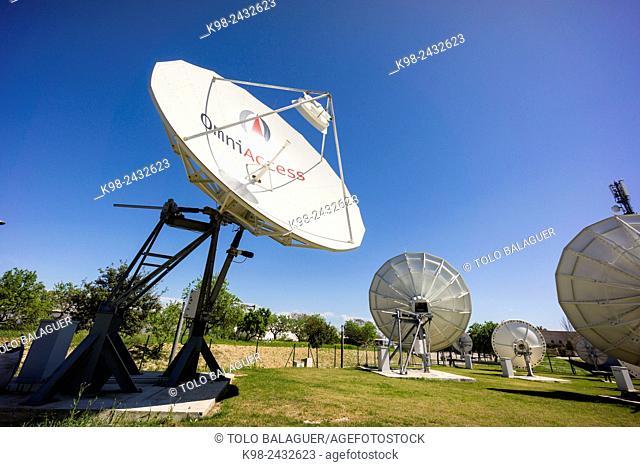 antenas parabolicas, Parc BIT, Parque Balear de Innovación Tecnológica, Majorca, Balearic Islands, Spain