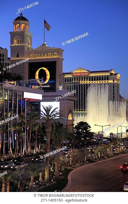 USA, Nevada, Las Vegas, Bellagio, Ceasars Palace, hotels, casinos