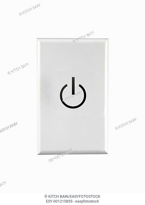 A power switch isolated against a white background