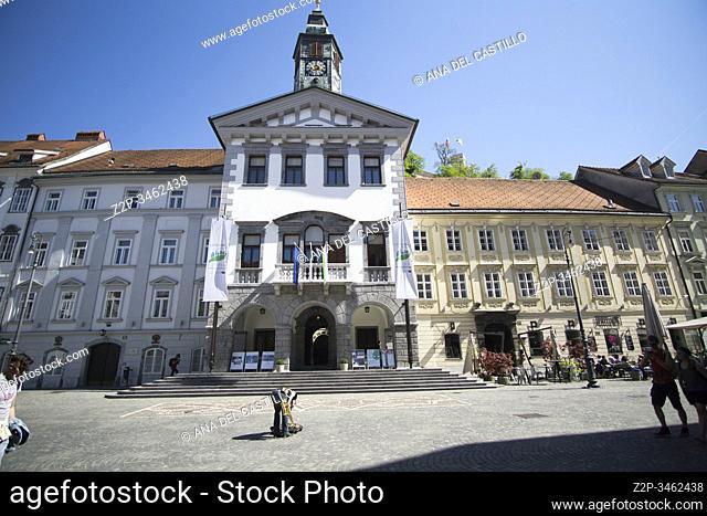 Ljubljana Slovenia on April 21, 2019: Cityscape
