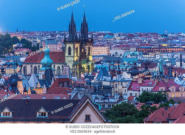 View of the town from Hradcany Hill, Prague, Czech Republic