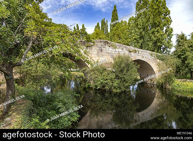 Roman bridge, Allariz, Ourense Province, Galicia, Spain