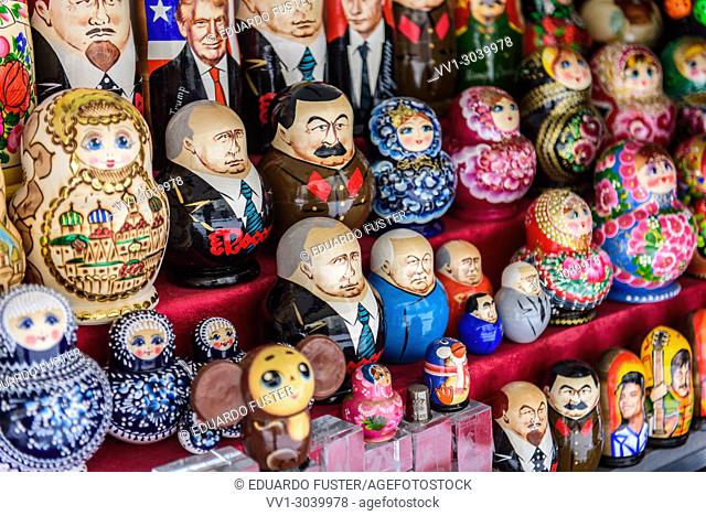 Russian matrioshka dolls in St Petersburg, Russia