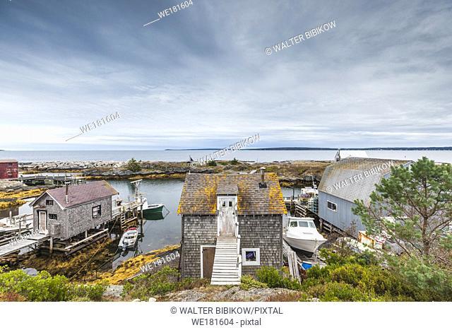 Canada, Nova Scotia, Blue Rocks, coastal fishing village