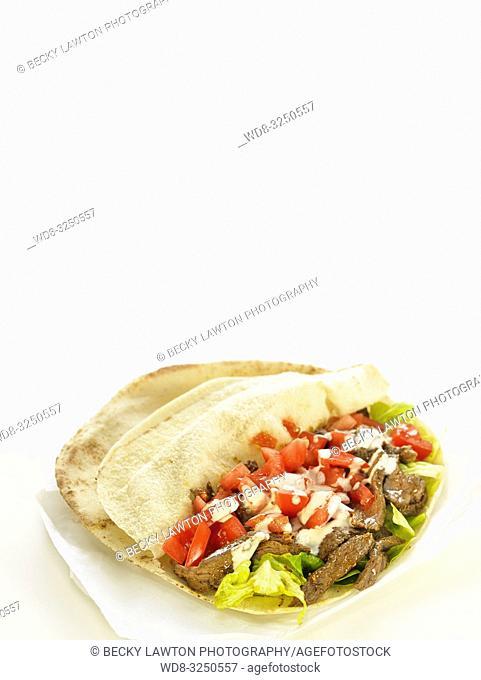 bocadillos del mundo: shawarma, oriente proximo. cerrado
