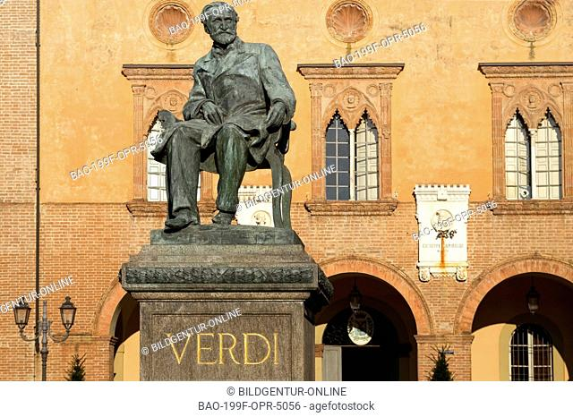 Image of the Verdi Monument in Busseto, Emilia-Romagna, Italy