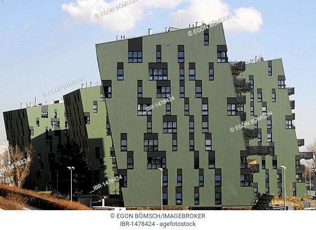 Modern architecture, gasometer, Vienna gasworks, Vienna, Austria, Europe