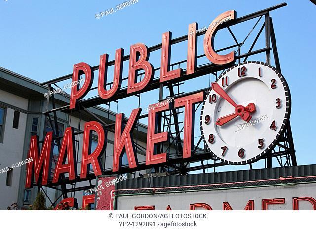 Pike Places Market Sign - Seattle, Washington