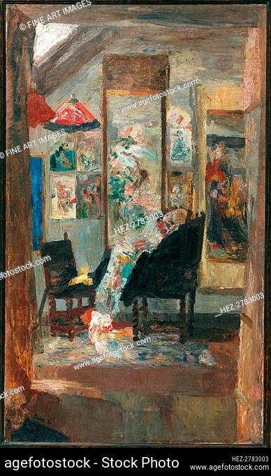 Squelette regardant chinoiseries, 1885. Creator: Ensor, James (1860-1949)
