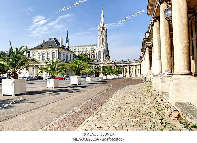 Place de la Carrière, basilica St. Epvre, Nancy, Département Meurthe-et-Moselle, France