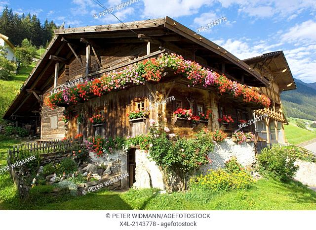Austria, Tirol, old wooden farmhouse