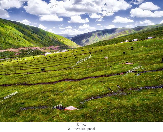 aerial photography of Andou country;Sichuan Province;China