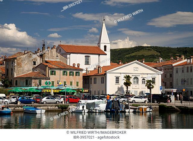 Harbour and view of the town of Izola, Adriatic coast, Slovene Littoral, Slovenia