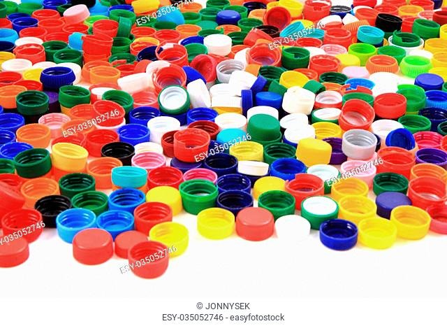 pet caps collection as nice color recycle background