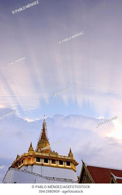 View of the Golden Mount, Bangkok, Thailand