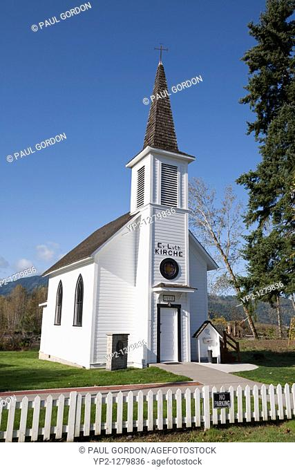 Elbe Evangelical Lutheran Church in Elbe, Washington just outside of Mount Rainier National Park