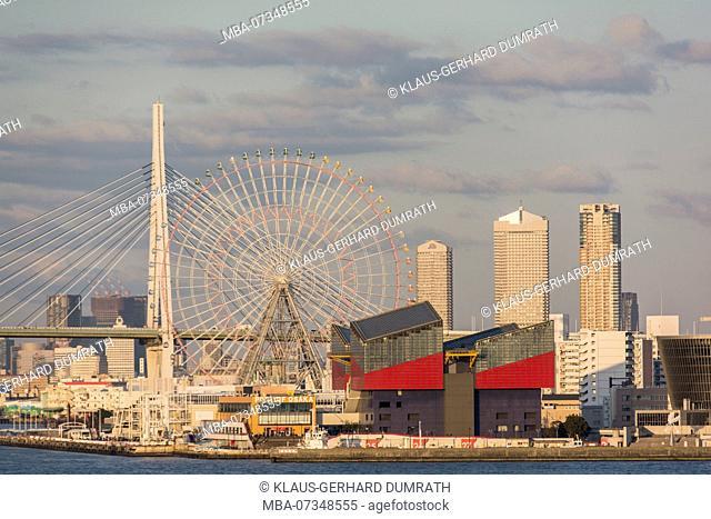 City panorama of Osaka, Japan