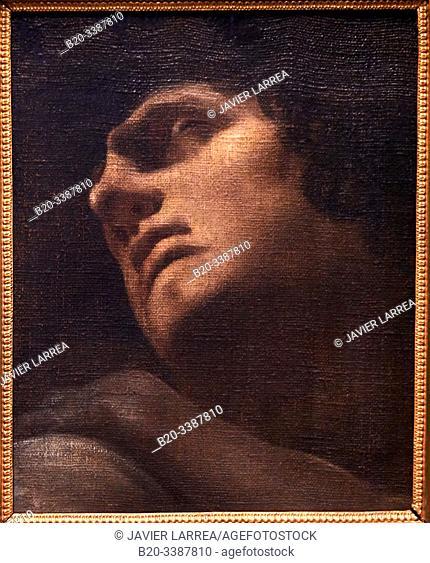 """""""""""""""Étude de tête pour Ugolin"""""""", 1770-1778, Johann Heinrich Fûssli, L'Allemagne romantique exhibition, Dessins des musées de Weimar"""