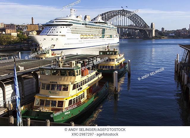 A Cruise ship docked at Circular Quay, Sydney Australia