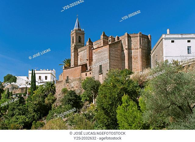 Church of La Purisima Concepcion-16th century, Zufre, Huelva-province, Region of Andalusia, Spain, Europe