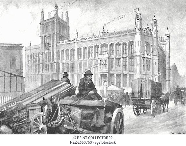 'The Record Office, Fetter Lane', 1891. Artist: William Luker