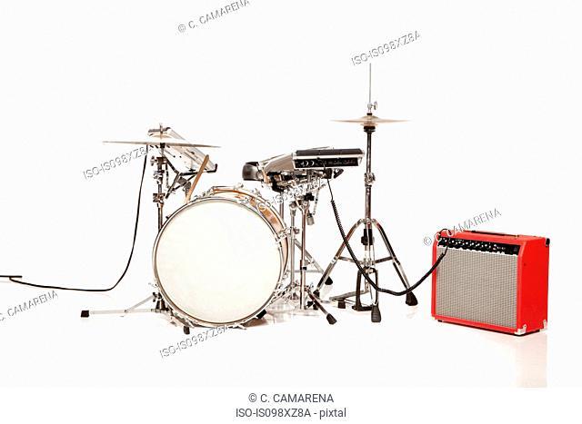 Drum kit, studio shot