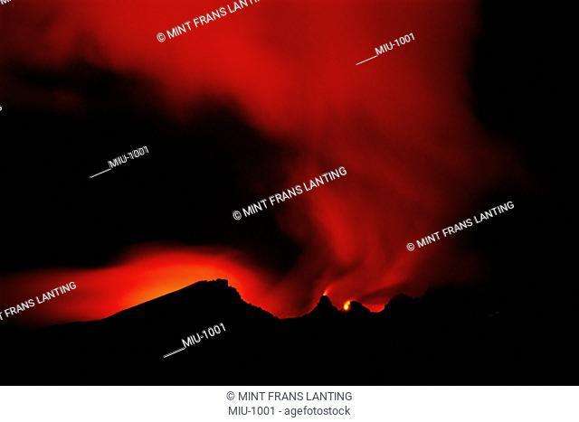 Volcano at night, Hawaii Volcanoes National Park, Hawaii