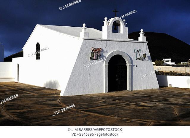Ermita de la Magdalena, Masdache. Lanzarote Island, Las Palmas, Canary Islands, Spain