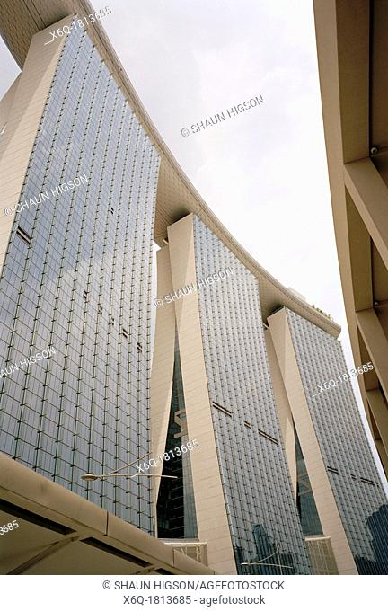 Marina Bay Sands Hotel in Singapore in Southeast Asia Far East