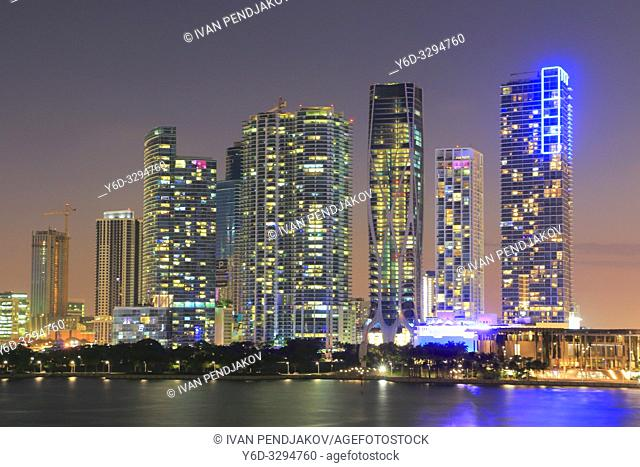 Miami at Dusk, Florida, USA