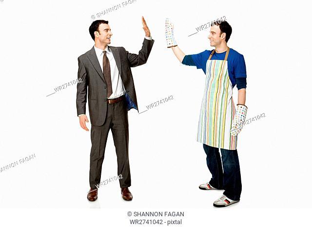 Businessman and house husband