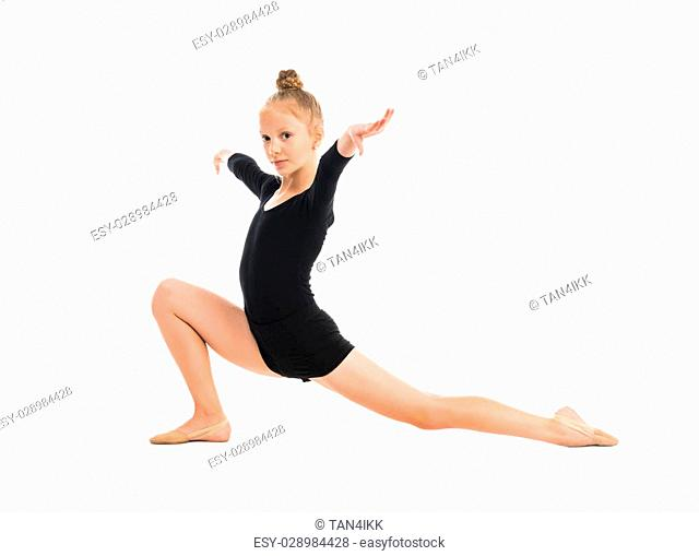 6ec0a4695 Little gymnast doing Stock Photos and Images