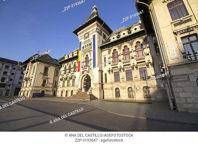 Craiova, Romania - square near the Dolj County Prefecture in Craiova, the town hall Romania