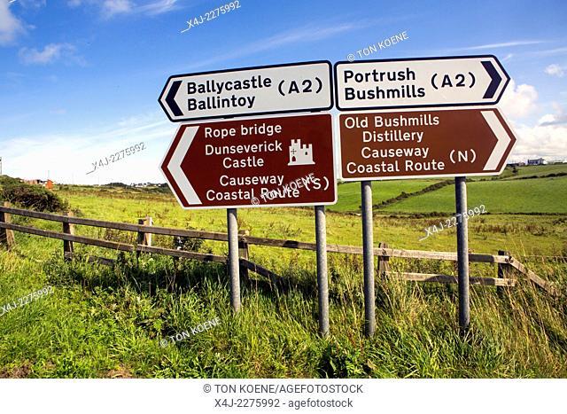 sign posts in Northern Ireland