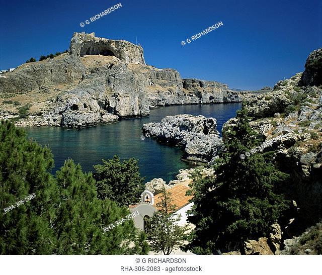 Lindos, island of Rhodes, Dodecanese, Greek Islands, Greece, Europe