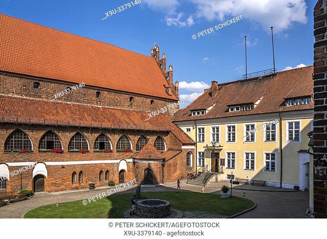 Innenhof des Schloss Olsztyn, Olsztyn / Allenstein, Ermland-Masuren, Polen, Europa | Olsztyn Castle courtyard, Olsztyn, Warmian-Masurian, Poland, Europe