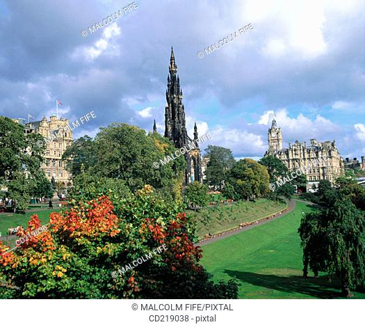 Scott Monument, East Princes Street Gardens, Edinburgh, Scotland