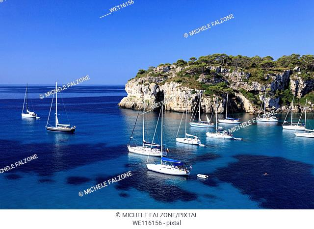 Spain, Balearic Islands, Cala Macarella Beach