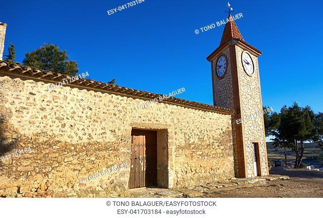 Higueruela Santa Barbara church in Albacete at Castile La Mancha of Spain